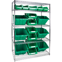 Wire Shelving Units with Storage Bins RL837 | TENAQUIP