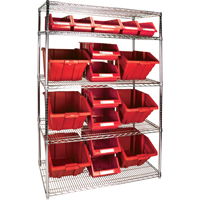 Wire Shelving Units with Storage Bins RL838 | TENAQUIP
