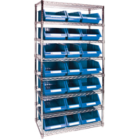 Wire Shelving Units with Storage Bins RL839 | TENAQUIP