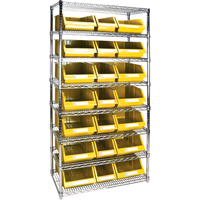 Wire Shelving Units with Storage Bins RL840 | TENAQUIP