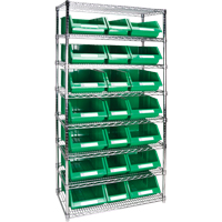 Wire Shelving Units with Storage Bins RL841 | TENAQUIP
