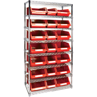 Wire Shelving Units with Storage Bins RL842 | TENAQUIP