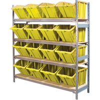 Wide Span Shelving with Jumbo Plastic Bins RL983 | NIS Northern Industrial Sales