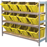 Wide Span Shelving with Jumbo Plastic Bins RL987 | NIS Northern Industrial Sales