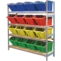 Wide Span Shelving with Jumbo Plastic Bins RL989 | NIS Northern Industrial Sales