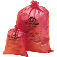 Biohazard Disposal Bags - Orange-Red SAM050 | NIS Northern Industrial Sales