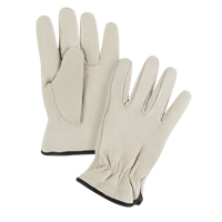 Grain Cowhide Drivers Fleece Lined Gloves SM619 | TENAQUIP