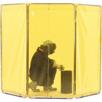 WELDING SCREEN YELLOW 3PANELS 5'X3' SB852 | NIS Northern Industrial Sales