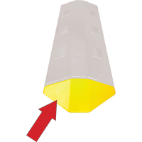 Speed Bump- Yellow End Cap SEC341 | NIS Northern Industrial Sales