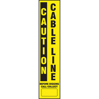 Flexible Marker Stake Decals - Caution Cable Line SEK550 | NIS Northern Industrial Sales