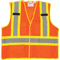5-Point Tear-Away Premium Safety Vest  SFQ532 | NIS Northern Industrial Sales