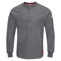 Excel FR® Long Sleeve Henley Shirts SGC032 | NIS Northern Industrial Sales