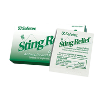 Insect Sting Relief Towelettes SGE738 | TENAQUIP