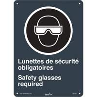 CSA Bilingual Safety Glasses Required Safety Sign SGI143 | TENAQUIP