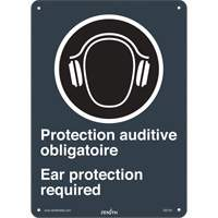 CSA Bilingual Ear Protection Required Safety Sign SGI144 | TENAQUIP