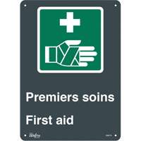 """Premier Soins/First Aid"" Pictogram Sign SGM779 