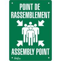 """Point de rassemblement/Assembly Point"" Pictogram Sign SGP169 