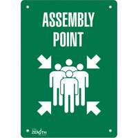 """Assembly Point"" Pictogram Sign SGP175 