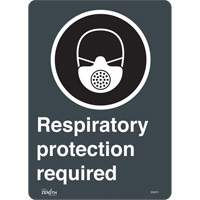 """Respiratory Protection Required"" CSA Pictogram Sign SGQ875 