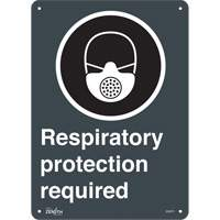 """Respiratory Protection Required"" CSA Pictogram Sign SGQ876 