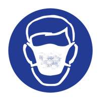 Right to Know - Pictogram Labels- Dust Mask ZC003 | NIS Northern Industrial Sales
