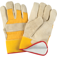 Grain Cowhide Fitters Foam Fleece Lined Gloves SDL891 | NIS Northern Industrial Sales