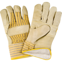 Grain Cowhide Fitters Cotton Fleece-Lined Patch Palm Gloves SDL881 | NIS Northern Industrial Sales