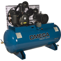 Industrial Series Air Compressors - 10 HP Horizontal Compressors - Two Stage TFA070 | NIS Northern Industrial Sales