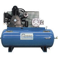 Industrial Series Air Compressors - 15 HP Horizontal Compressors - Two Stage TFA078 | NIS Northern Industrial Sales