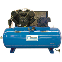 Industrial Series Air Compressors - 30 HP Horizontal Compressor - Two Stages TFA102 | NIS Northern Industrial Sales