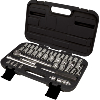 "41-Piece 1/4"" and 3/8"" Drive S.A.E./Metric Socket Set TLV360 