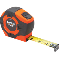 "Tape Measure Hi-Viz Orange  1""X33' (25mmx10m), Eng TLV621 