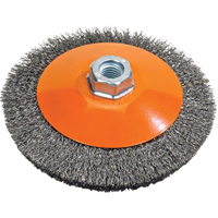 Saucer Cup Brush With Knot-Twisted Wires UE907 | NIS Northern Industrial Sales