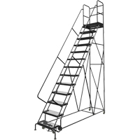 Deep Top Step Rolling Ladder VC777 | TENAQUIP
