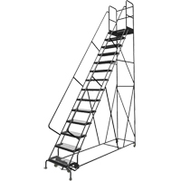 Deep Top Step Rolling Ladder VC778 | TENAQUIP