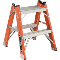 L-3433 Series - Extra Heavy-Duty Twin Front Step Stool VD426 | NIS Northern Industrial Sales