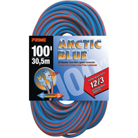 Arctic Blue™ All-Weather TPE-Rubber Lighted End Extension Cords w/Primelok® & Primelight® XB899 | NIS Northern Industrial Sales