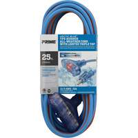 Arctic Blue™ All-Weather TPE-Rubber Lighted End Extension Cords w/Primeligh® XB902 | NIS Northern Industrial Sales