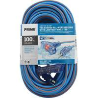 Arctic Blue™ All-Weather TPE-Rubber Lighted End Extension Cords w/Primelok® & Primelight® XB904 | TENAQUIP