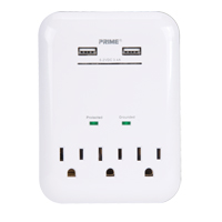 Prime® USB Charger with Surge Protector XG782 | NIS Northern Industrial Sales