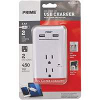 Prime® USB Charger with Surge Protector XG783 | NIS Northern Industrial Sales