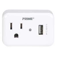 Prime® USB Charger with Surge Protector XG784 | NIS Northern Industrial Sales