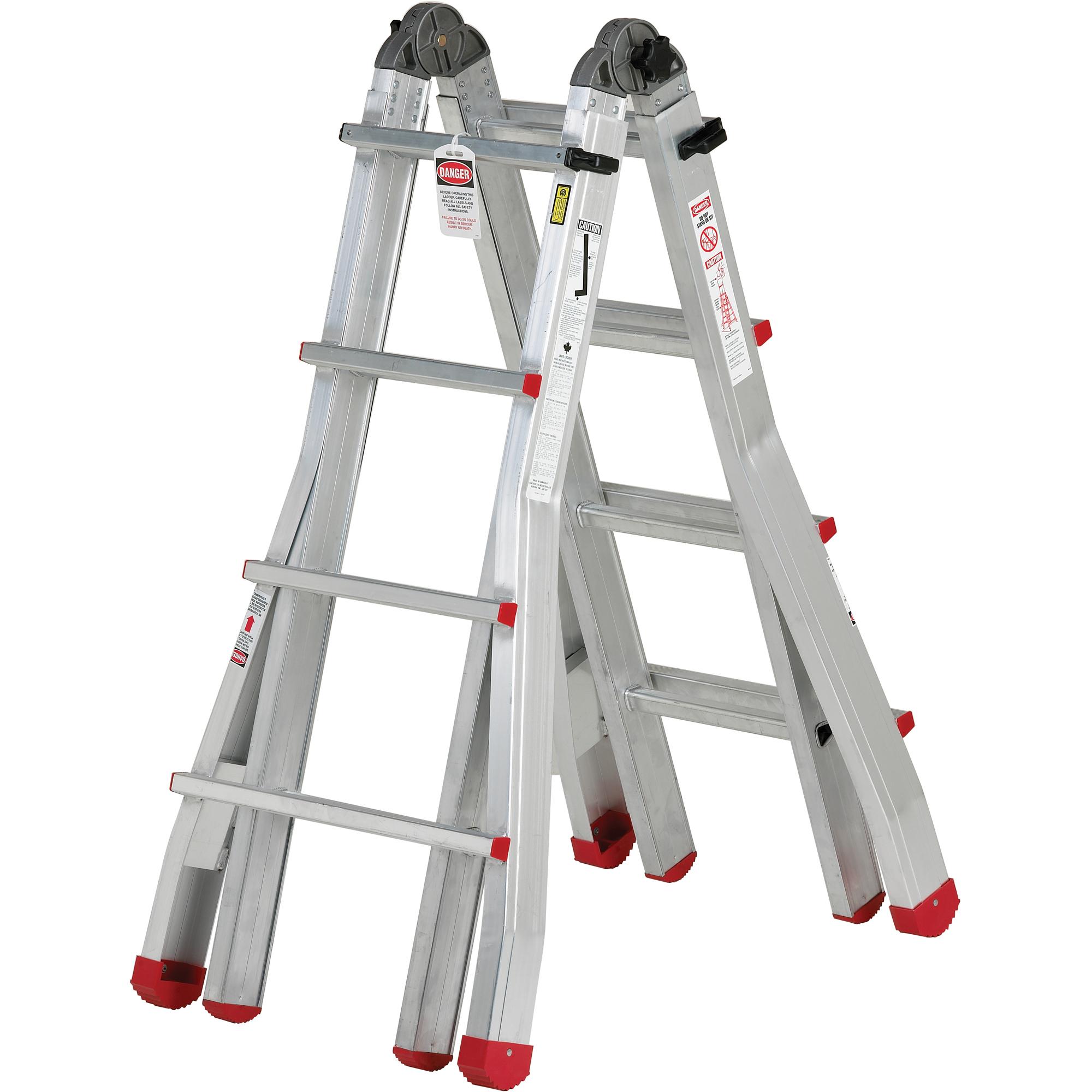 Industrial Extra Heavy-Duty Multi-Purpose Jaws™ Telescopic Ladders