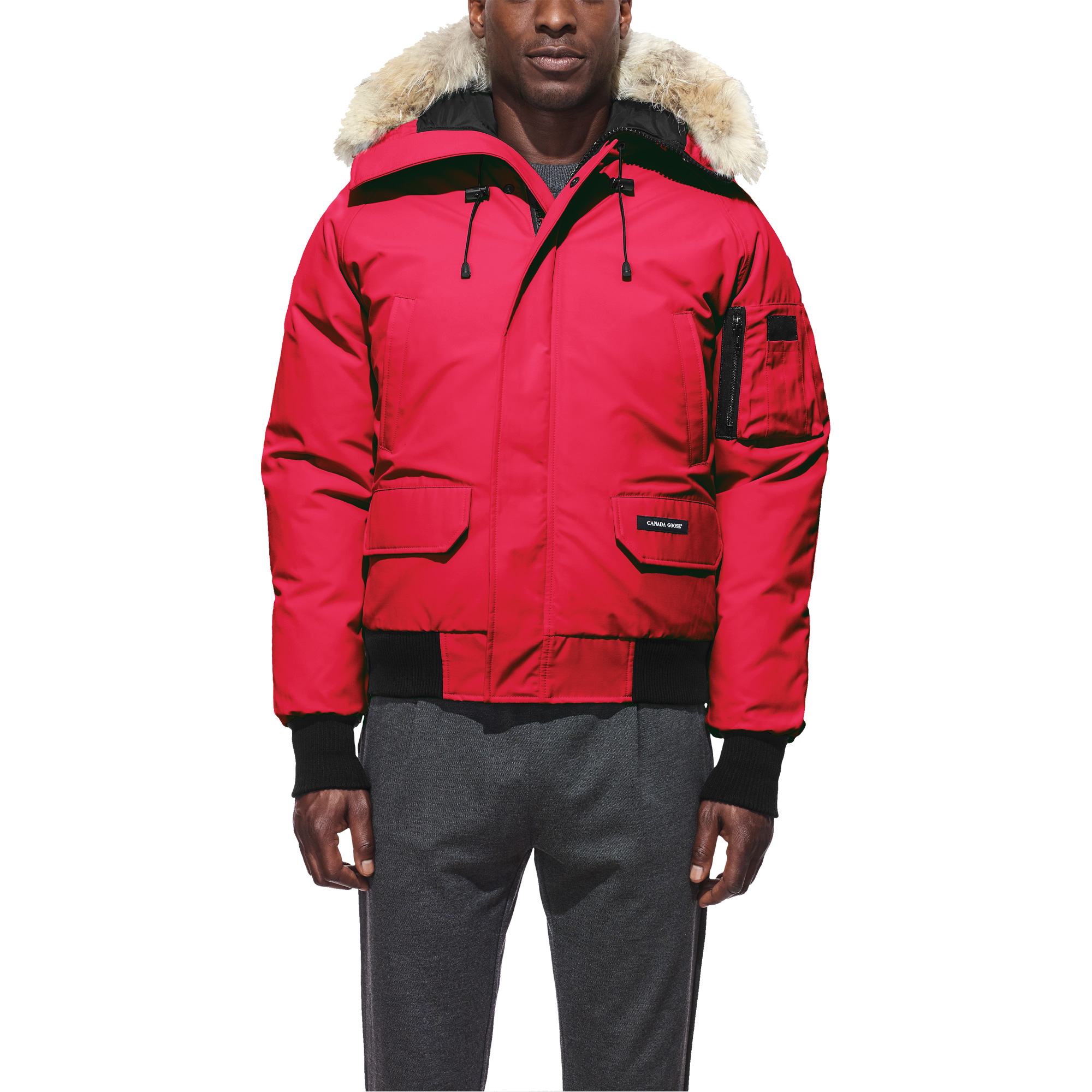 Shop Cheap Canada Goose Chilliwack Bomber Red Men's Jackets Best Service & Cheap Price