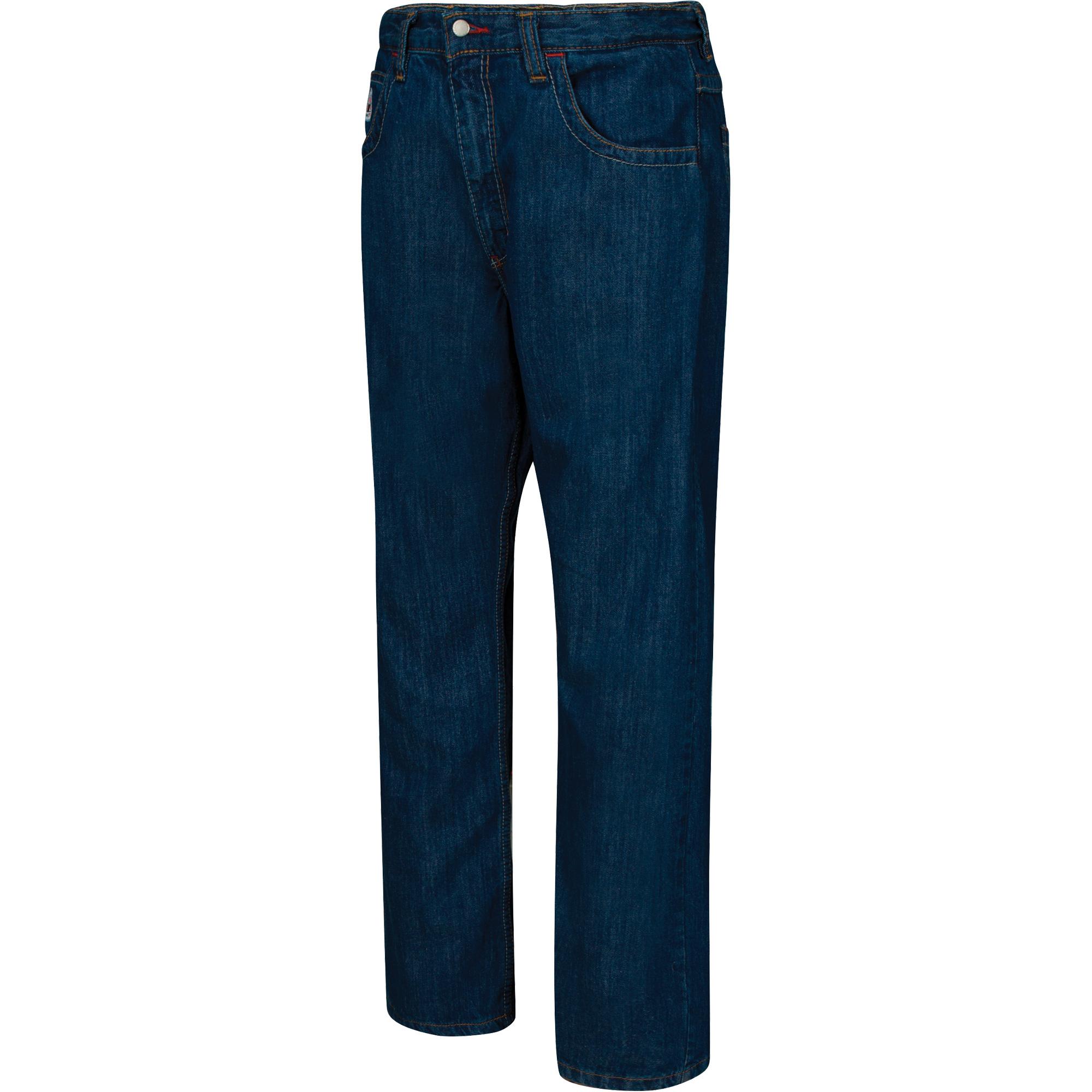 Bulwark 31 X 37 Blue Denim Cotton Flame Resistant Denim Jeans With Button Closure