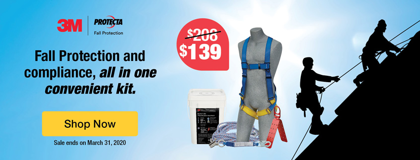 Fall Protection and compliance, all in one convenient kit.